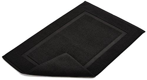 confronta il prezzo AmazonBasics - Tappetino per il bagno, con fascia decorativa, colore: nero miglior prezzo