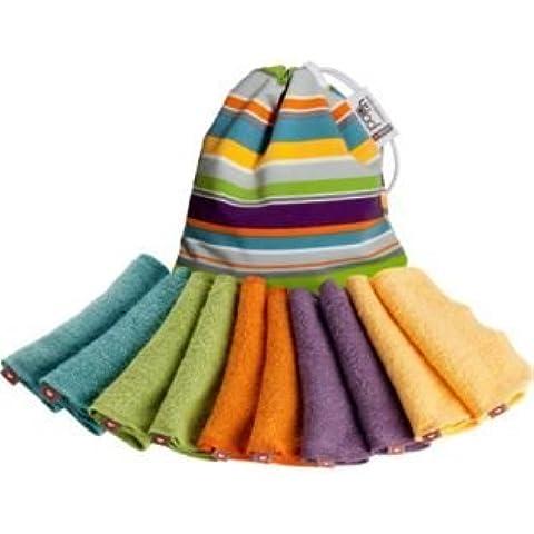 Close Pop-In-salviettine riutilizzabili, colori vivaci assortiti