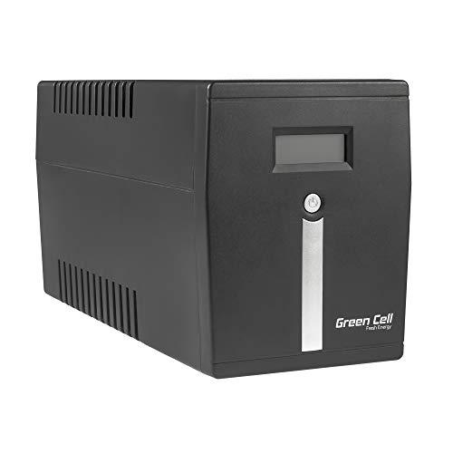 Green Cell UPS USV Unterbrechungsfreie Stromversorgung 1500VA (900W) 230V 1000VA-1999VA Approximated Sine Wave USB/RJ45 4X Schuko