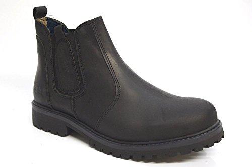 Wrangler David da uomo nero in pelle Chelsea stivali alla caviglia, taglia UK 6-12, nero (Black), 12 UK (47)