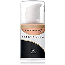Max factor - Colour adapt, maquillaje adaptativo, tono 80 bronce, 34 ml