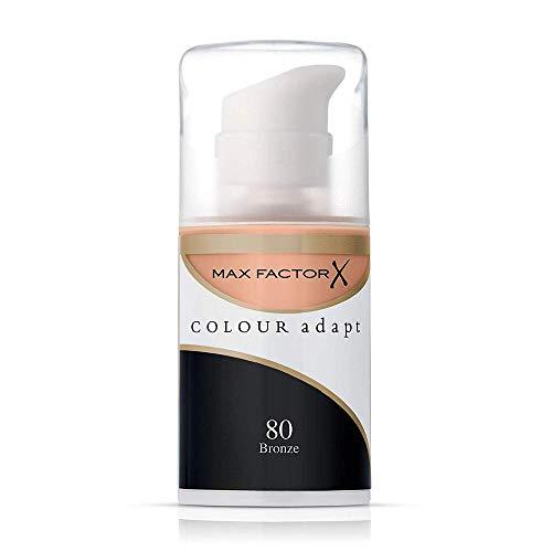 Max factor - Colour adapt, maquillaje adaptativo, tono 80 bronce, 34 ml