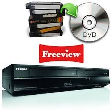 Toshiba DVR20-Player und Rekorder DVD (Dolby Digital, jpg, 35W, 5W, schwarz, 4,9kg) (Toshiba Player Dvd-vcr)