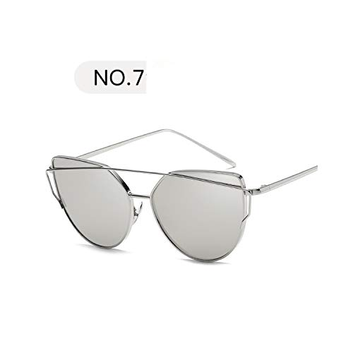 Sportbrillen, Angeln Golfbrille,NEW Metal Sunglasses Women Luxury Cat Eye Brand Design Mirror Rose New Gold Vintage Cateye Fashion Sun Glasses Lady Eyewear C7