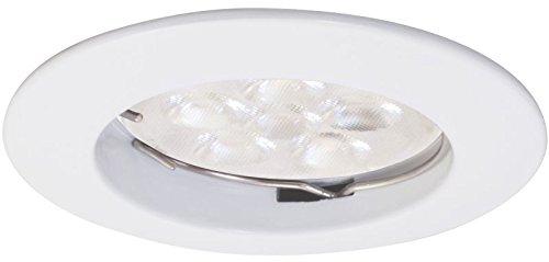Preisvergleich Produktbild Müller Licht 7W LED GU10 Einbauleuchte weiß (38W Licht) 400 Lumen 2700K warmweiß DIMMBAR Spot beam fix rund rund