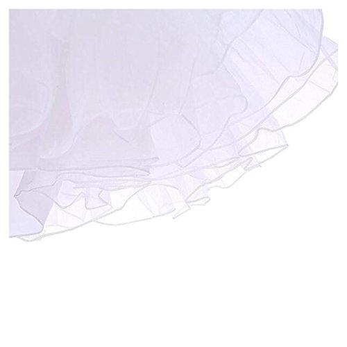 Vintage Damen 50er Jahre Rockabilly Petticoat Underskirt Wedding Bridal Knielang Unterrock Weiß