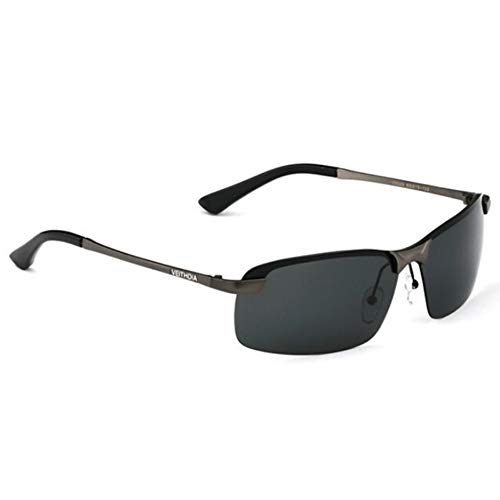 ZHOUYF Sonnenbrille Fahrerbrille Original Brand Logo Designer Fahren Herren Polarisierte Sonnenbrillen Mode Eyewear Uv400 Sonnenbrille, D