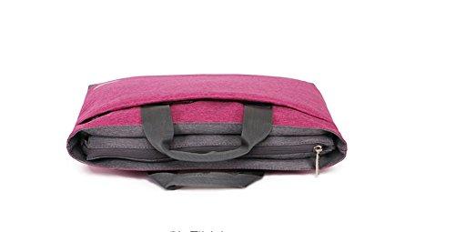 YAAGLE Laptoptasche, Tasche Hülle Aktentasche für 15 Zoll Laptop / Notebook Computer / MacBook / MacBook Pro pink pink/17 Zoll