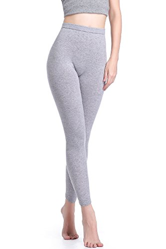 Zhili Thermal Leggings - Heavyweight, Ultra-Soft Frauen Merino Wolle Base Layer XL Grau (Unterwäsche Wolle Lange Thermal)