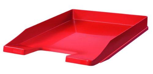 HAN Briefablage JUNIOR 1025-17 in Rot/Flache, stapelbare Papierablage/In innovativem, modernem Design/Für Briefe & Papiere bis Format A4–C4, 5 Stück