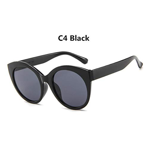 YLNJYJ Sonnenbrillen Oculos De Sol Feminino Neue Mode Retro Designer Super Runde Kreis Brille Cat Eye Damen Sonnenbrille Brille