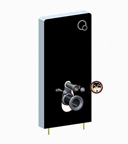 Preisvergleich Produktbild Sanitärmodul für Wand-WC Vorwandelement WC Aluminium und Glas Farbe schwarz