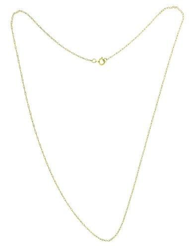 Bijoux pour tous NKG-K10113 - Cadena de oro amarillo de 9 quilates sin gema