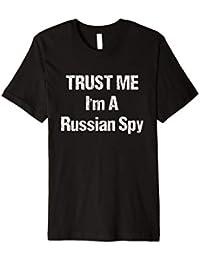 Russland Spion T-Shirt KGB Geheimagent UdSSR CCCP Geschenk