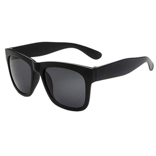 Man9Han1Qxi Sport-Sonnenschutz-im Freien quadratischer Rahmen-Bunte Sonnenbrille-Geschenk-Anti-UVsonnenbrille der Männer Frauen Black Frame Grey Lens