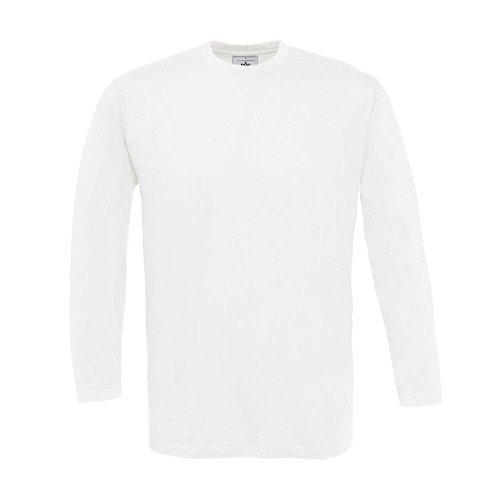 B&C - Langarm T-Shirt 'Exact 150 LS' L,White