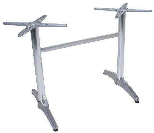 Tischgestell Brenta, Aluminiumguss, Doppelwangen