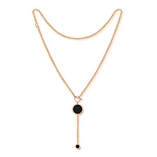 AieniD Colgante Collar Base Chapada en Oro Collar para Mujer...