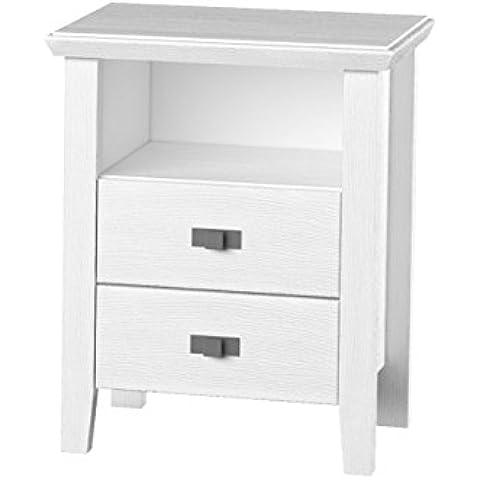 Telmex 5090ca62comodino, legno, bianco, 45x 57x 70cm