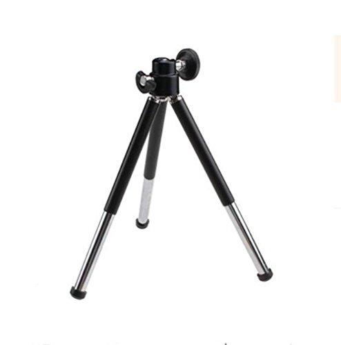 Teléfono mini trípode teléfono con cámara de video de escritorio soporte portátil , small black (Telefono Camara)