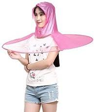 Ekan Waterproof Cap Umbrella Hands Free Foldable Headwear Cap Cover Umbrella for Women Big, 30 Grams, Pack of 1