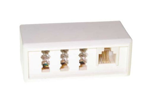 Kompakter Adapter TAE-F Stecker an 3-fach TAE-Kupplung NFN VE=1 [Elektronik]