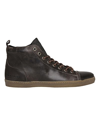 JACK & JONES  Jj Brother Leather Casual High Prm, Baskets hautes homme Noir - Noir