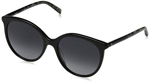Max mara mm tube ii 9o 1ei 54, occhiali da sole donna, nero (blgrydiamtex/dark grey sf)