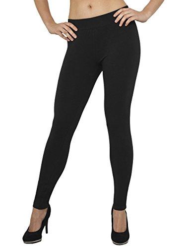 Urban Classics TB605 Damen Ladies Jersey Leggings Schwarz (Black 7), W29/L32 (Herstellergröße: L) (Jersey Classic Shorts)