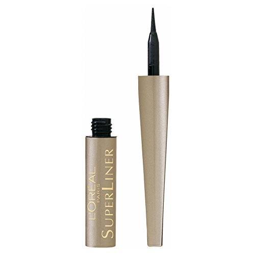 L'Oréal Paris Super Liner Ultra Precision, 01 Schwarz - ultra-präziser Flüssig-Eyeliner mit spezieller Auftragefeder - für einen perfekten Lidstrich, der den ganzen Tag hält, 1er Pack (1 x 2 ml)