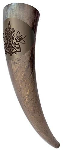 Trinkhorn - Thors Hammer Mjölnir - 500 ml - lebensmittelecht - vegan - Made in Germany Bier Horn