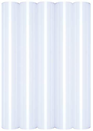 5 x A4 Transferfolie/Textilfolie zum Aufbügeln auf Textilien - perfekt zum Plottern, P.S. Film:5er Set White