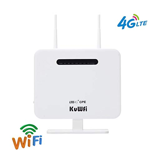 KuWFi Enrutador CPE 4G LTE Desbloqueado 300 Mbps Ranura