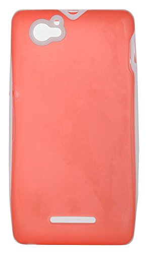 iCandy™ Premium Quality TPU White Boarder Soft Back Cover for Sony Xperia M - RED