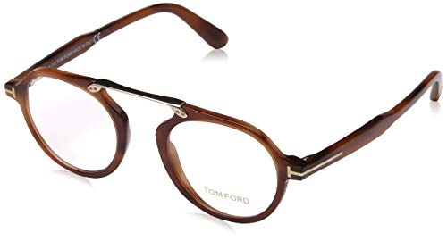 Tom Ford Unisex-Erwachsene Ft5494 Brillengestelle, Braun (AVANA BIONDA), 47