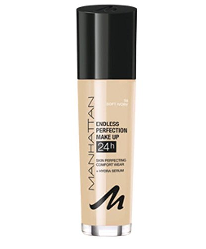 Manhattan Endless Perfection Make Up, Farbe 58, soft ivory, 1er Pack (1 x 0.03 l)