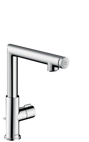 Hansgrohe lavabo mezclador 210Axor Uno Select caño giratorio níquel cepillado, 45016820
