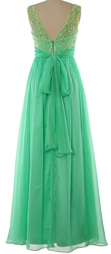 MACloth Women Lace Chiffon Long Prom Dress Wedding Party Formal Evening Gown Gelb