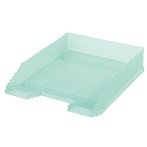 5x Herlitz Ablagekorb / Briefkorb / Briefablage / transluzent pastell minze