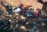 Thor Spiderman Captain America Marvel Comics Hawkeye Ultimates Mouse Pad, Mousepad (25,9x 21,1x 0,3cm)
