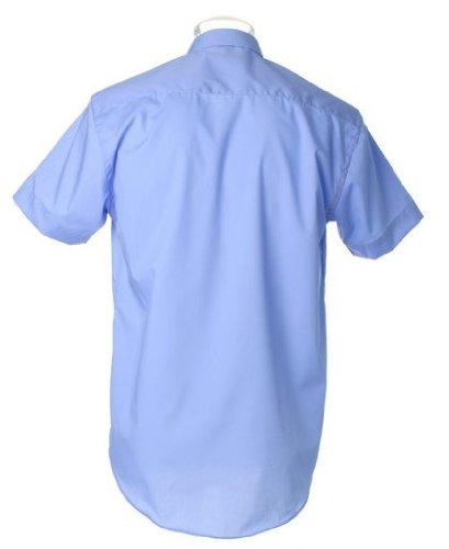 Kustom kit en popeline kK102–chemise à manches courtes Bleu - Bleu clair