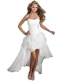 YAONAI Elegante/Corsé / Gasa/Vestido de Novia para Mujer, Cintura Alta/