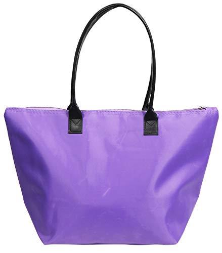 Damen-Shopper Diane M Lila aus wasserabweisendem Nylon Material - Lila Shopper