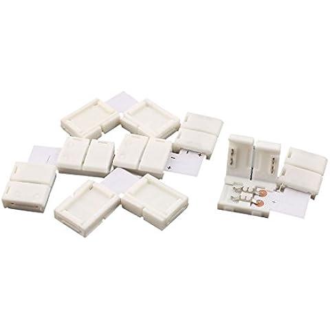 5 piezas L Tipo RGB 2 Terminal Conector Clip para 3528 guirnalda LED