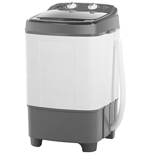 KUPPET Mini tragbare Waschmaschine für kompakte Wäsche, kleine kompakte Waschmaschine mit Timer-Steuerung Single Tub,Einzelwäsche