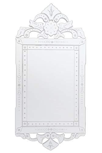 MirrorOutlet Espejo Biselado de Estilo clásico, Color Dorado