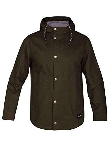 Hurley Herren Jacket M Mac A Frame grün (Olive Canvas) Medium