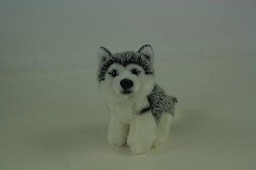 Preisvergleich Produktbild Uni-Toys Husky, sitzend, grau/weiß 12 cm Plüschhund
