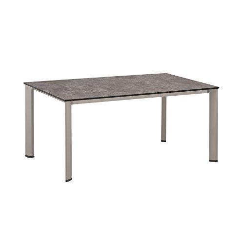 Kettler HPL Lofttisch 160 x 100 cm, silber/anthrazit Esstische