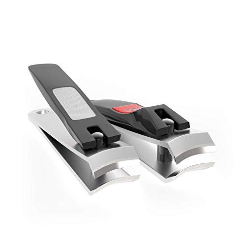 Nagelknipser Set für Finger- und Fußnägel mit Nagelfeile - Edelstahl - 100% ige Zufriedenheitsgarantie - Nagelzange - Nagelzwicker - Nagelschneider - Nagelknipser - Nail Clippers - (2 Set)…